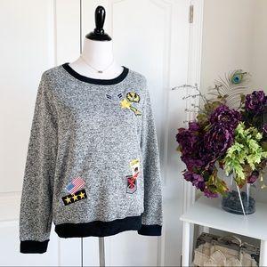 Bobbie Brooks Patch Work Pullover Sweatshirt